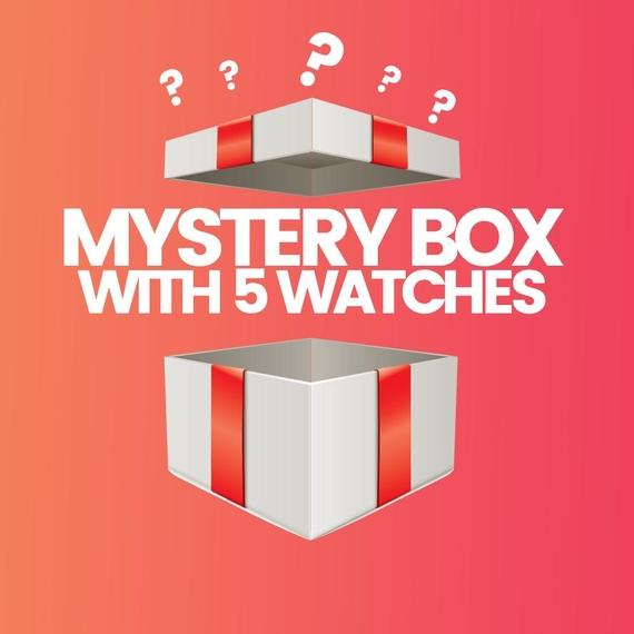 Daily Steals-5 Piece Mystery Watch Deal - Men's and Women's Options-Mystery Box-Female-