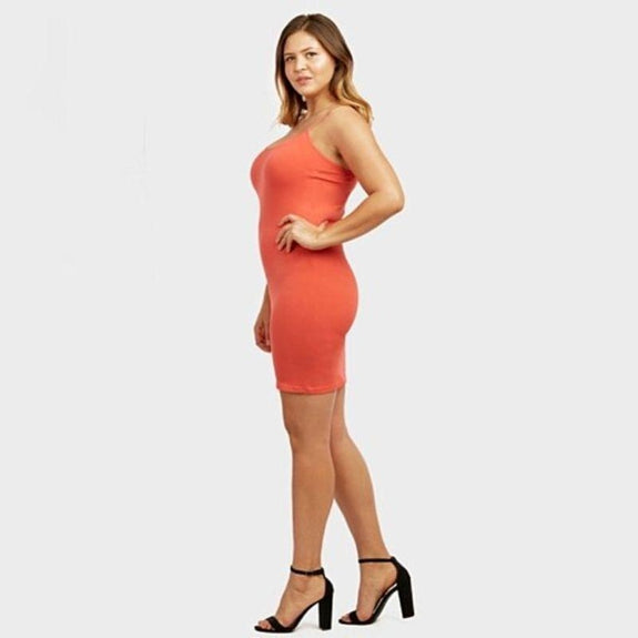 Mystery Deal: Ladies Seamless Long Poly Camisole Dress - 2 Pack-Regular Size (Small to Large)-
