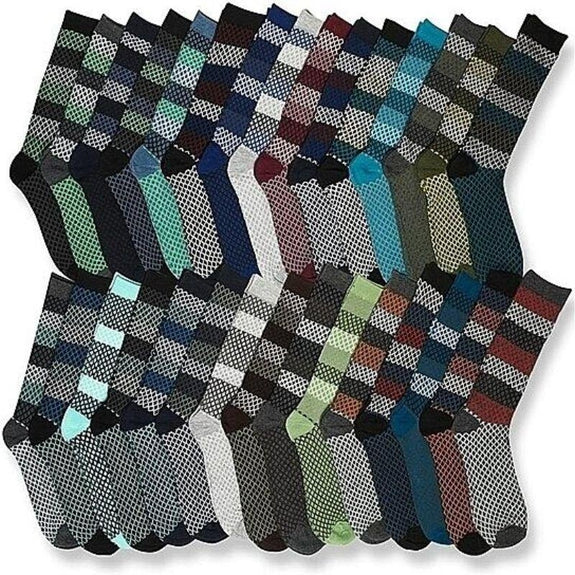 Mystery Deal: Multi-Pack John Weitz Men's Funky Fun Dress Socks-15 Pairs-