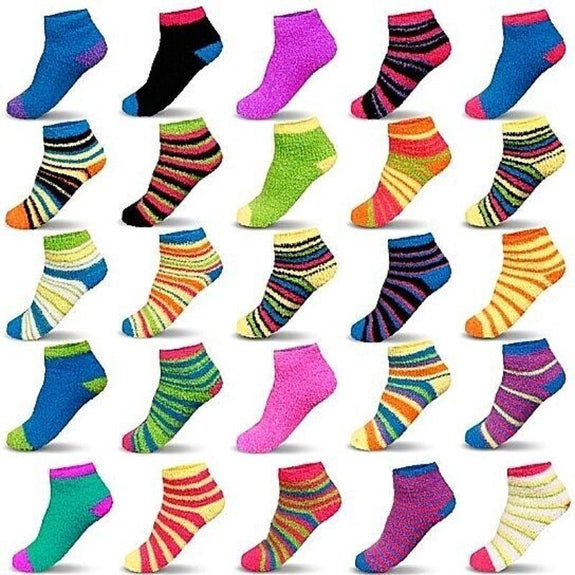 Mystery Deal: Super Plushy Women's Cozy Fuzzy Socks - 5, 10 or 15 Pairs-5 Pairs-