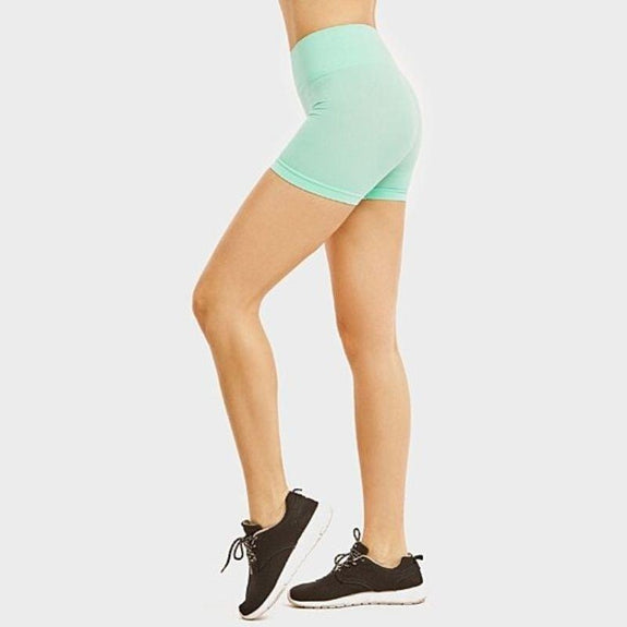 "Mystery Deal: Women's 12"" High Waisted Legging Yoga Biker Shortsl - 2 Pack-"