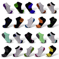 Mystery Deal: Men's Moisture Wicking Low-Cut Socks - 20 Pair