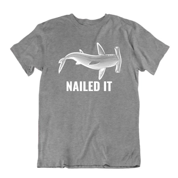 "Daily Steals-""Nailed It"" Hammerhead Shark T-Shirt-Men's Apparel-Sports Grey-Small-"