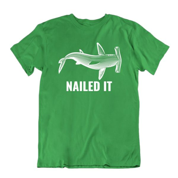 "Daily Steals-""Nailed It"" Hammerhead Shark T-Shirt-Men's Apparel-Kelly Green-Small-"