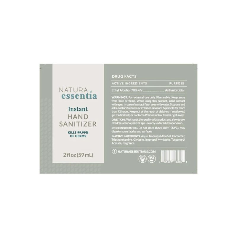 Natura Essentia Instant Hand Sanitizer 70% Ethyl Alcohol, 2oz - 3, 6, 10 or 20 Pack-Daily Steals
