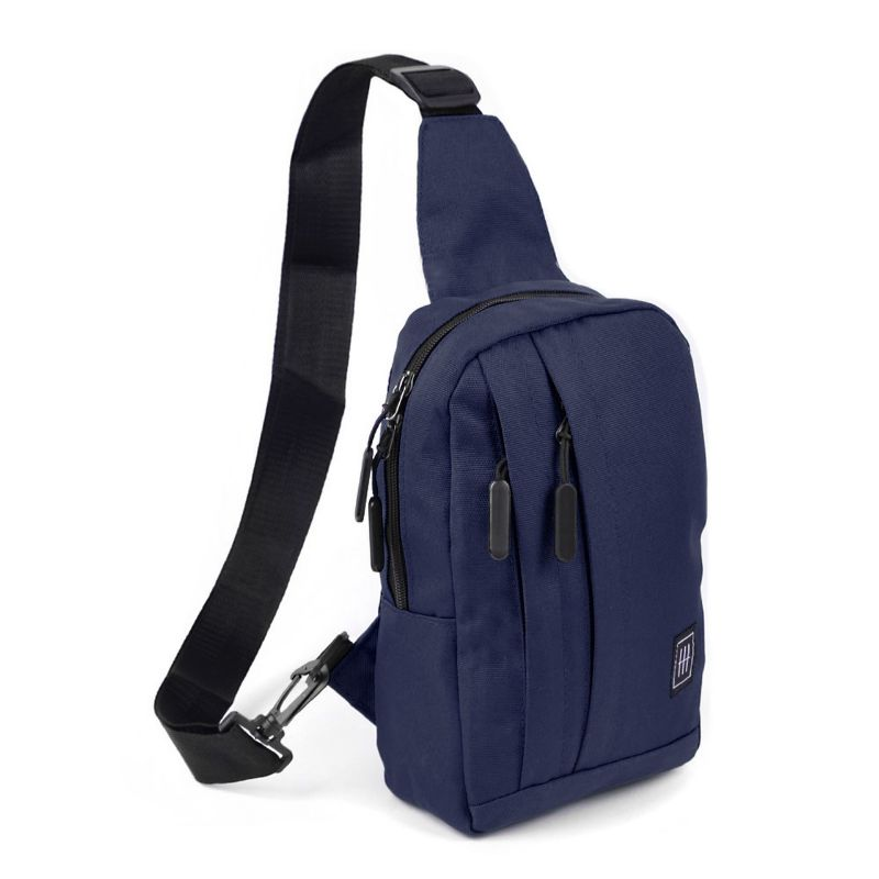 Crossbody Sling Bag with Reversible Strap-Navy-Daily Steals
