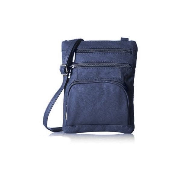 Super Soft Leather Crossbody Bag-Navy-Daily Steals