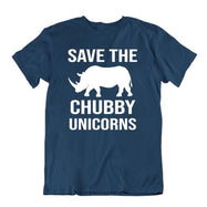 Save The Chubby Unicorns T-Shirt-Navy Blue-S-Daily Steals