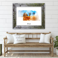 "Nebraska Watercolor Map Print - Unframed Art Print-16""x12""-Horizontal/Landscape-Daily Steals"