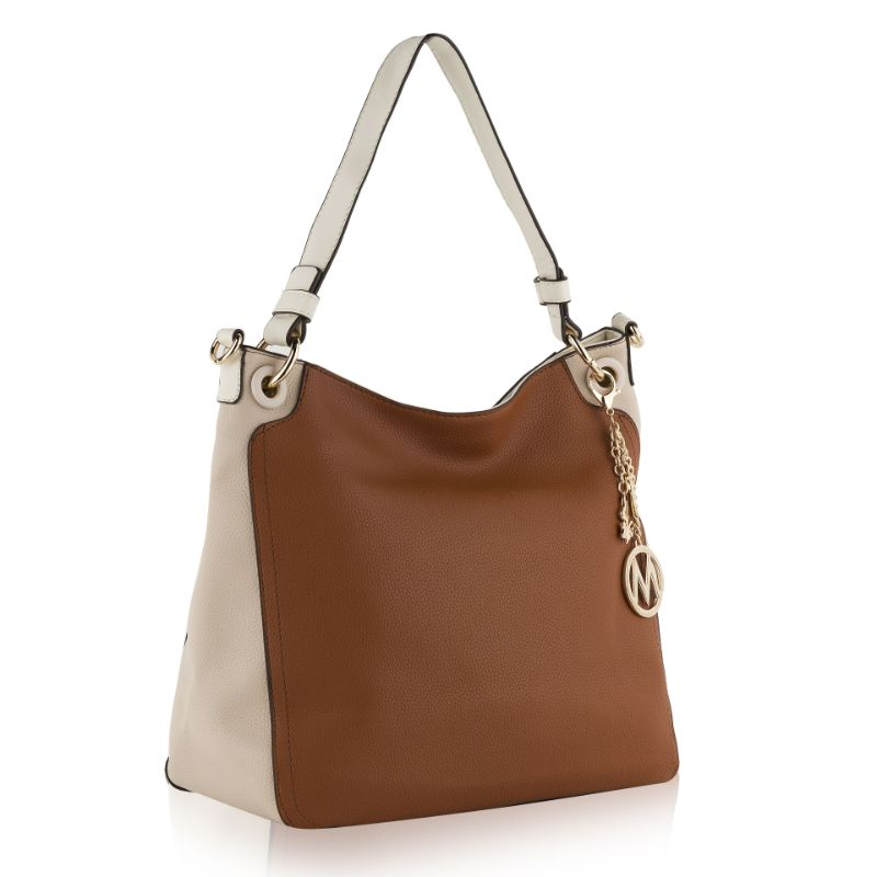 Nene Vegan Leather Hobo Handbag by MKF-Cognac-Apricot-Daily Steals