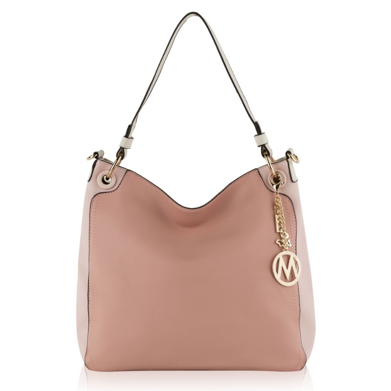 Nene Vegan Leather Hobo Handbag by MKF-Light Pink-Daily Steals