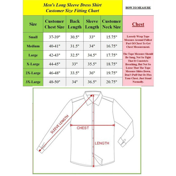 Mens Long Sleeve Solid Dress Shirt-Daily Steals
