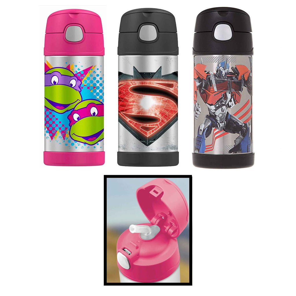 Thermos Funtainer 12 Ounce Bottle - Batman VS Superman, Ninja Turtles, Transformers-Daily Steals