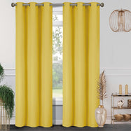 Pair of Double-Panel Blackout Panels - 76 X 84-Yellow-Daily Steals
