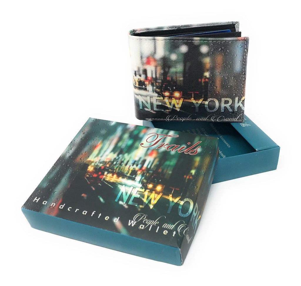 Bifold Wallets With Printed Designs - Comes in Gift Box-NEW YORK NIGHT-Daily Steals