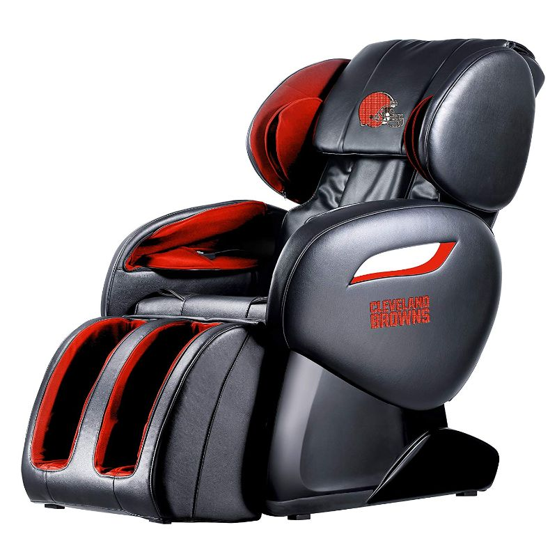 NFL Electric Full Body Shiatsu Massage Chair with Foot Roller-Cleveland Browns-Daily Steals