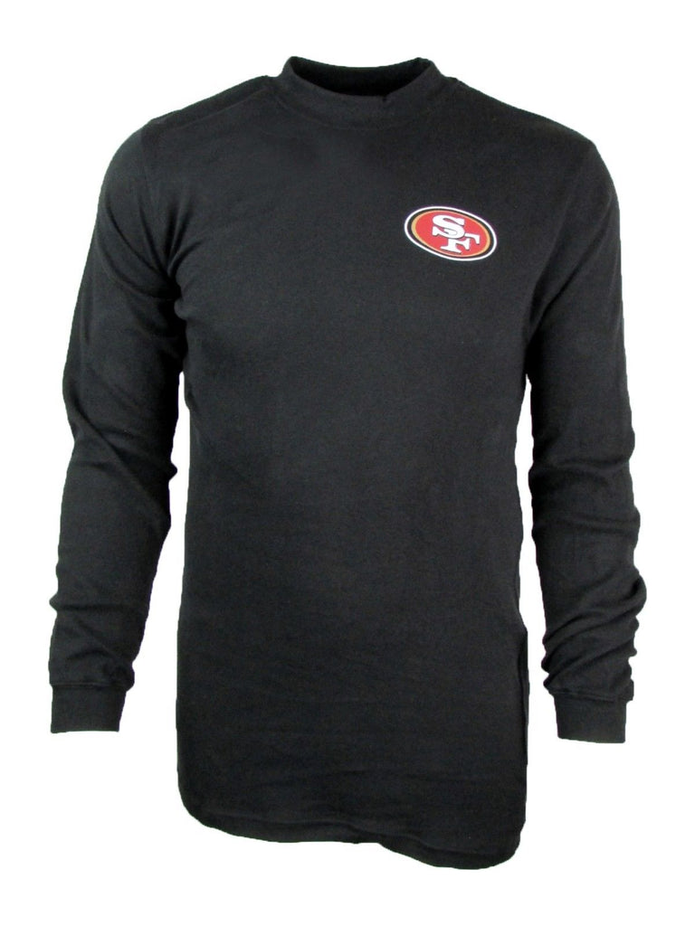 San Francisco 49ers Men's Big and Tall Mock Neck Long-Sleeve Mid-weight Shirt-Daily Steals