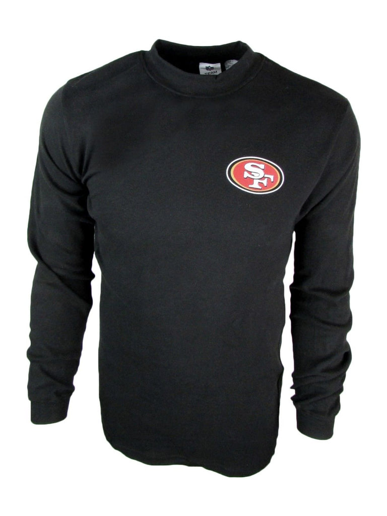 San Francisco 49ers Men's Big and Tall Mock Neck Long-Sleeve Mid-weight Shirt-Large Tall-Daily Steals