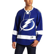 Daily Steals-NHL Tampa Bay Lightning Men's Royal Center Ice Premier Hockey Jersey-Men's Apparel-M-