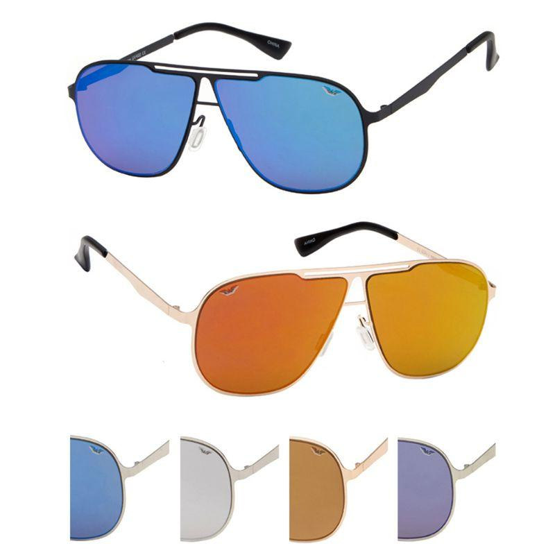 Niche Unisex Sunglasses - Aviator Sunglasses Metal Frame, UV400 Lens Protection, Assorted Colors-2 Pack-