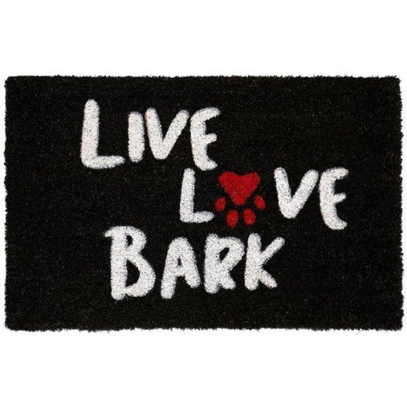 Nicole Miller Comfy Pooch Outdoor Coir Mat-LIVE LOVE BARK-Daily Steals