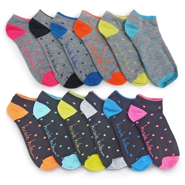 Nicole Miller Women's No Show Socks - 24 Pairs-Polkadot-Daily Steals