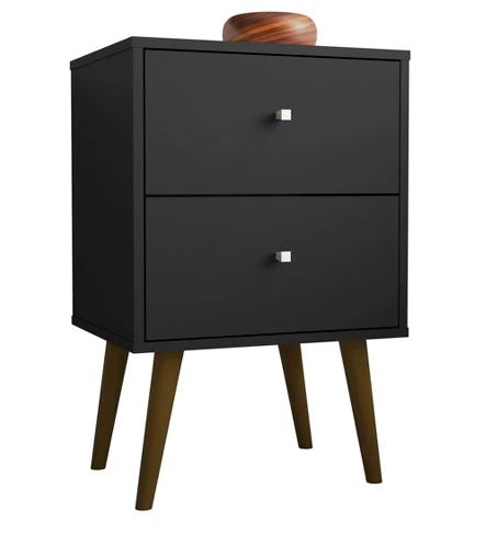 Liberty 2.0 Mid Century Modern Nightstand-Black-Daily Steals