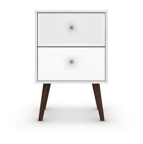 Liberty 2.0 Mid Century Modern Nightstand-White-Daily Steals