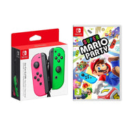 Super Mario Party Video Game + Nintendo Joy-Con Controllers-Neon Pink & Green-Daily Steals