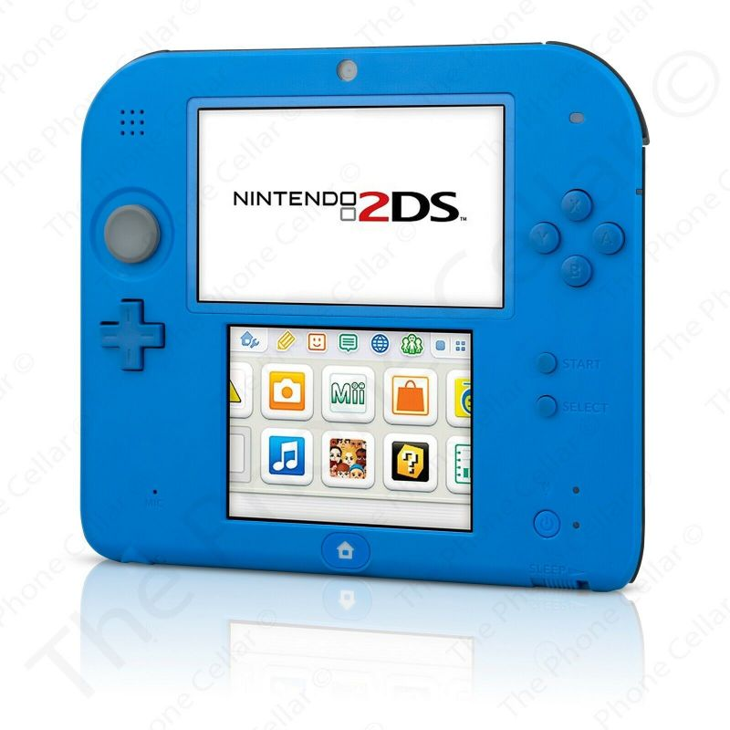 Nintendo 2DS Electric Blue Gaming Console with Charger-Daily Steals
