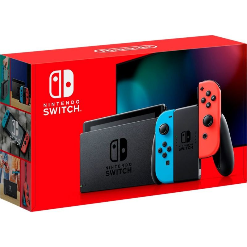 Nintendo Switch 32GB Console Version 2 - Neon Red/Neon Blue Joy-Con-Daily Steals
