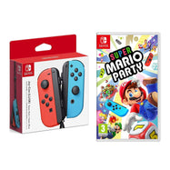 Super Mario Party Video Game + Nintendo Joy-Con Controllers-Neon Red & Blue-Daily Steals