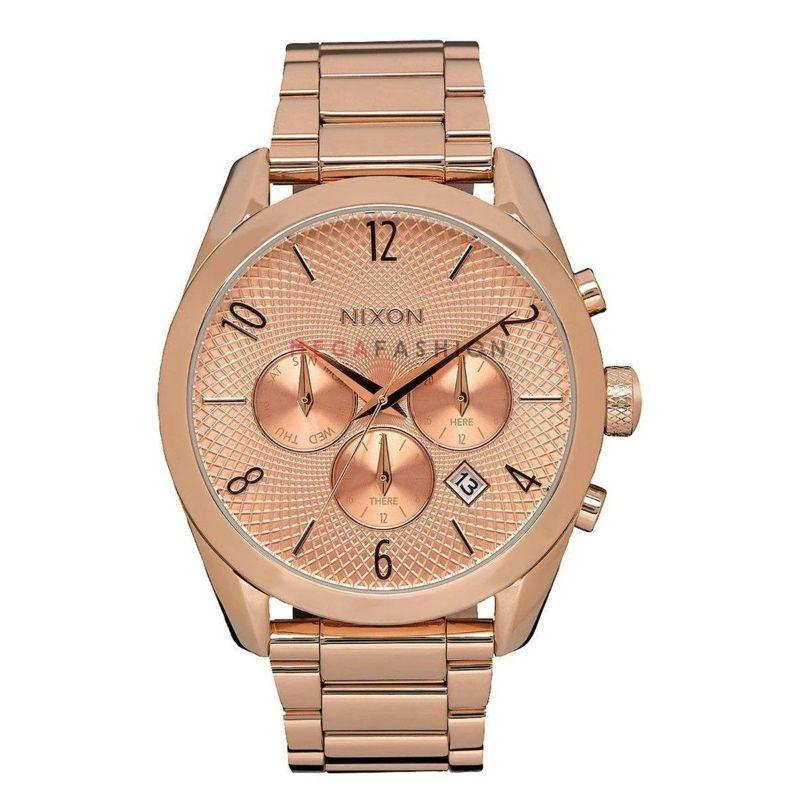 Nixon Bullet Chronograph A366-897-00 Rose Gold Tone Women's Watch-