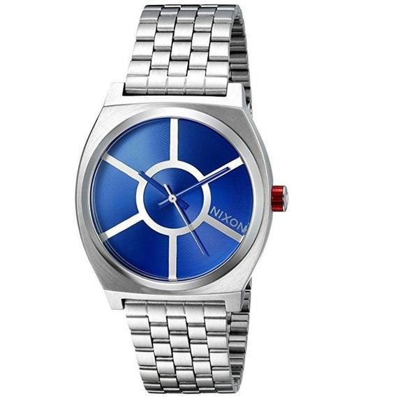 Daily Steals-Nixon Men's Time Teller SW, R2D2 Blue Stainless Steel Bracelet Watch-Jewelry-