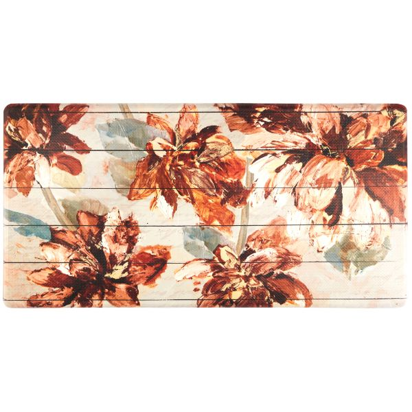 Oversized 20-Inch x 39-Inch Anti-Fatigue Embossed Floor Mat-FLORAL-Daily Steals