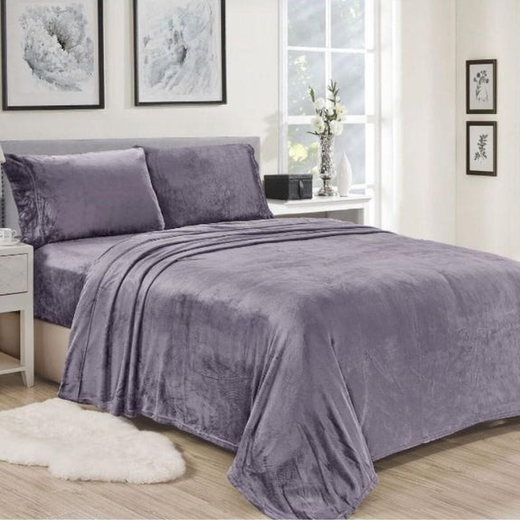 Noble House Lavana Microplush Sheet Set-LAVENDER-TWIN-
