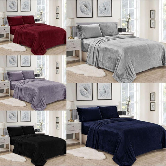 Noble House Lavana Microplush Sheet Set-BLACK-TWIN-