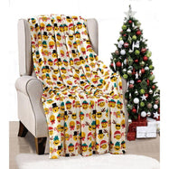Noble House Soft Fleece Winter Holiday Throw Blanket-Christmas Smiles-