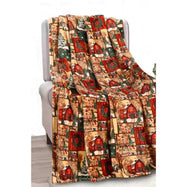 Noble House Soft Fleece Winter Holiday Throw Blanket-Holiday Barn-