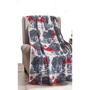 Noble House Soft Fleece Winter Holiday Throw Blanket-Winter Barn-