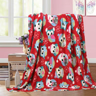 Noble House Soft Fleece Winter Holiday Throw Blanket-Owl-