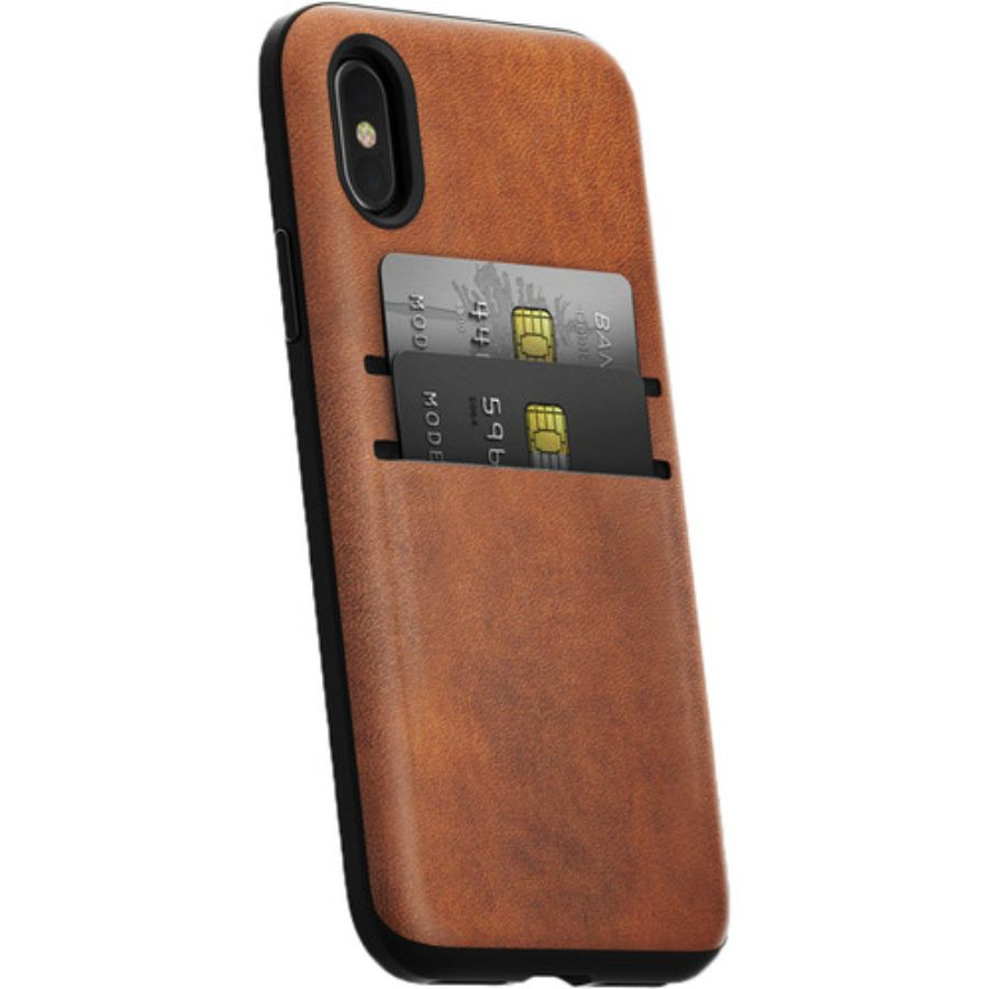 Nomad Wallet Case for iPhone X - Rustic Brown-Daily Steals