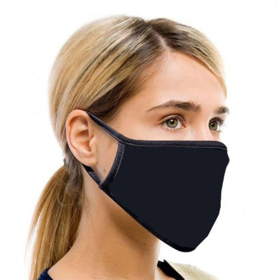 Non Medical Cotton Fabric Face Covers- 5 Pack-Assorted-