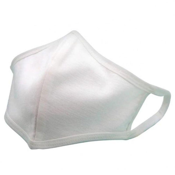 Non Medical Cotton Fabric Face Covers- 5 Pack-White-