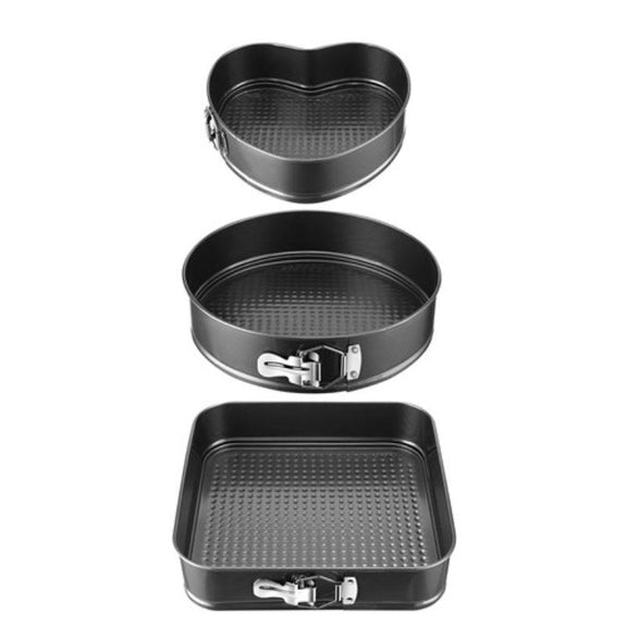 Non-stick Springform Cake Pan Leakproof Bakeware With Removable Bottom - 3 Pack-