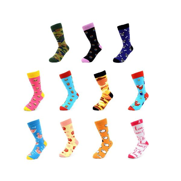 Women Or Men Novelty Socks- Assorted Styles - 2 Pack-1Men 1Woman-Daily Steals