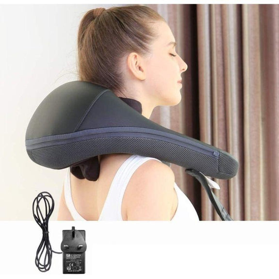 NURSAL Neck and Shoulder Massager w/ Heat and Adjustable Intensity and Speed-