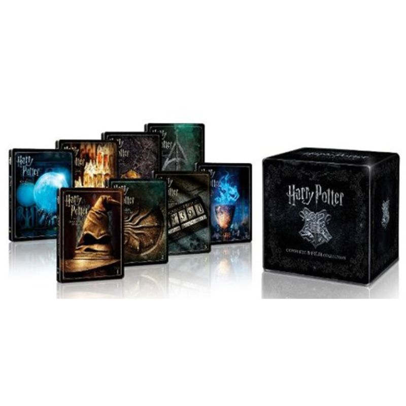 Harry Potter 8-Film Movie Collection (4K UHD + Standard Blu-Ray) Steelbook-Daily Steals