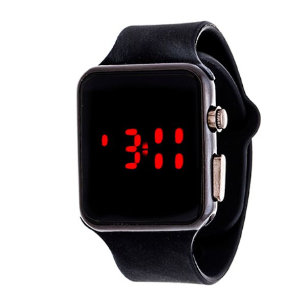 Men's Sport Digital with Rubber Strap Watch-Black-Daily Steals