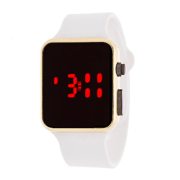 Men's Sport Digital with Rubber Strap Watch-Gold/White-Daily Steals